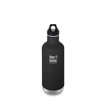 Klean Kanteen 946ml Classic Vac Insulated Bottle Shale Black