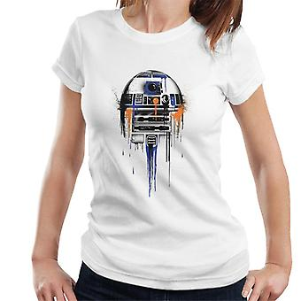 Star Wars Spray Paint R2D2 Women's T-Shirt