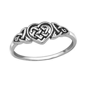 Celtic Heart - 925 Sterling Silver Plain Rings - W32290x