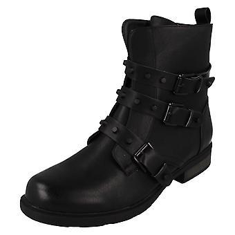 Ladies spot på ankel støvler F51019