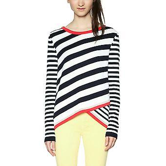 Desigual Women's Saligna Striped Split Hem Jumper Sweater
