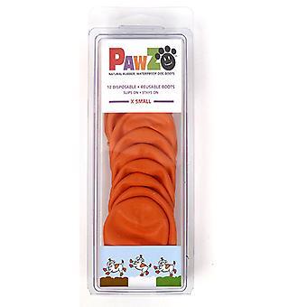Pawz يمكن التخلص منها المطاط الكلب الأحذية X-الصغيرة البرتقالي