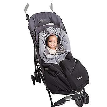 Alphabetz Universal Baby Kinderwagen Schlafsack, schwarz, grau, Größe keine Größe