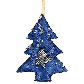 Christmas Shop 17.5cm Reversible Sequin Tree