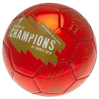 Liverpool FC Champions of Europe 2019 Signature jalka pallo
