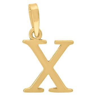 925 Sterling Zilver Gele toon Mens Vrouwen Letter Naam Gepersonaliseerde Monogram Initial X Charm Hanger Ketting Maatregelen 2
