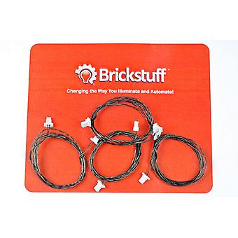"Brickstuff 24"" Extension Cables for the Brickstuff LEGO Lighting System (4-Pack) - GROW24"