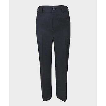 Boys Dark Navy Blue Formal Trousers