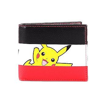 pokemon pikachu bi-fold stripe lommebok