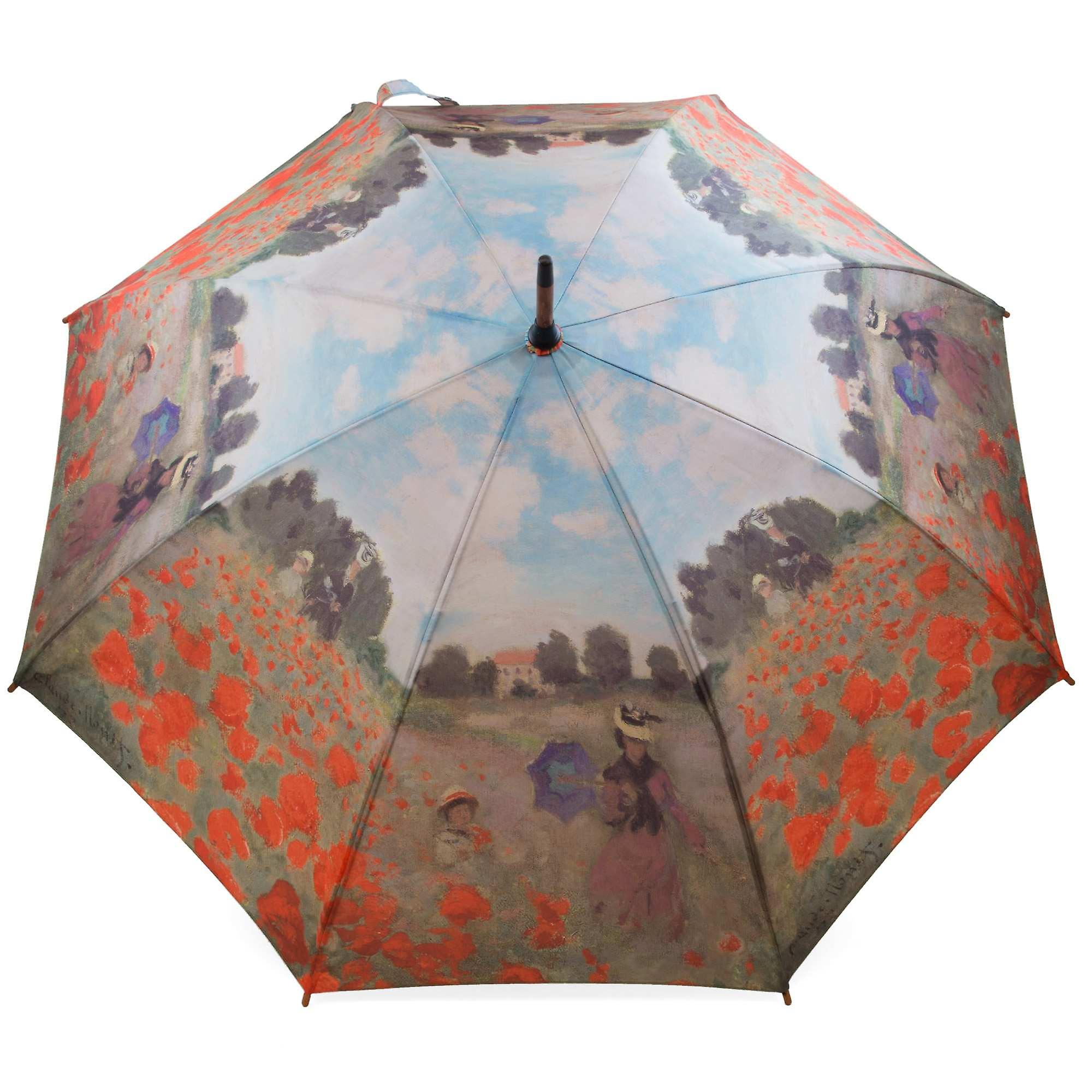 Umbrella stick umbrella motif Claude Monet poppy flowers