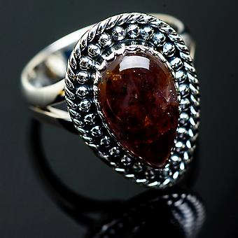 Cacoxenite Ring Size 8 (925 Sterling Silver)  - Handmade Boho Vintage Jewelry RING995558