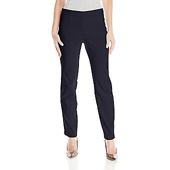 Briggs New York Women's Petite Super Stretch Millennium Pull On Straight Leg ...