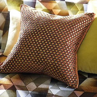 Designers Guild Portland Geometric Cushion En Terre cuite Orange