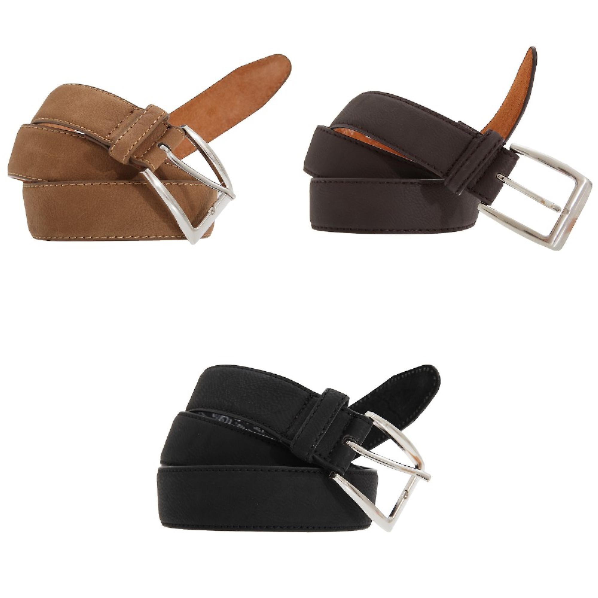 Forest Belts Mens 1.25 Inch Bonded Leather Belt