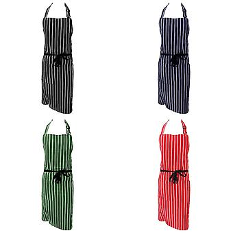Dennys Unisex Cotton Striped Workwear Butchers Apron