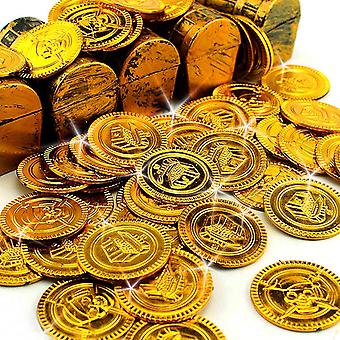 32 Pirates Gold Coins - Gold Taler Pirate Treasure Pirate Booty - For Board Games Parties Children Games Decorations Pinada Fillers!
