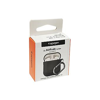 Spigen Silicone Fit Case for Apple Airpods 1 & 2 - Charcoal