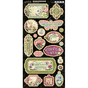 "Bloom Chipboard Die - Cuts 6""X12"" Sheet - Decorative & Journaling"