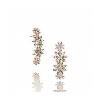 Vixi Nova Rose Gold Statement Star Hoop Earrings Ladies Jewellery NOVA-SH.R
