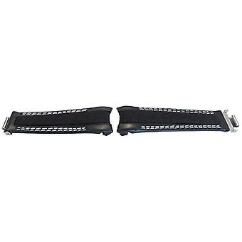 Watch strap made by w&cp to fit rolex gmt & oyster smooth black calf leather & fabric hybrid watch strap 20mm white stitch