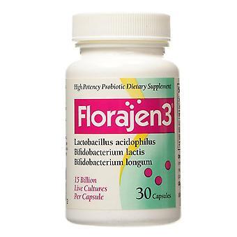 Florajen 3 probiotics, capsules, 30 ea