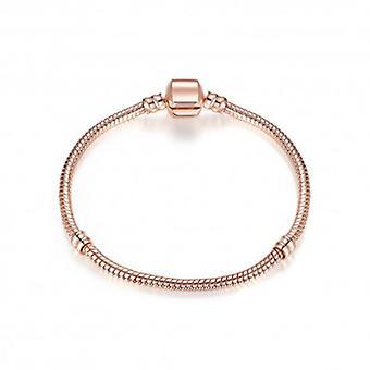 Pulseira de cobra prateada rosa banhada a ouro - 5158