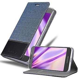 Cadorabo tilfelle for Motorola MOTO E5 tilfelle deksel - mobiltelefon tilfelle med magnetisk lås, stativ funksjon og kortrom - Case Cover Beskyttende Case Book Folding Stil