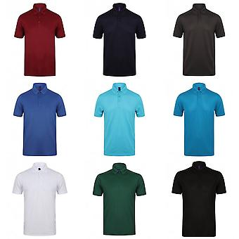 Henbury Mens Stretch Microfine Pique Polo Shirt