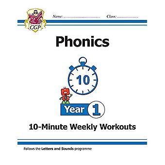 KS1 English 10-Minute Weekly Workouts - Phonics - Année 1 par CGP Books