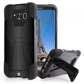 SAMSUNG GALAXY S8+ BEYOND CELL SHELL CASE HYBER 2 SERIES CASE - CARBON FIBER