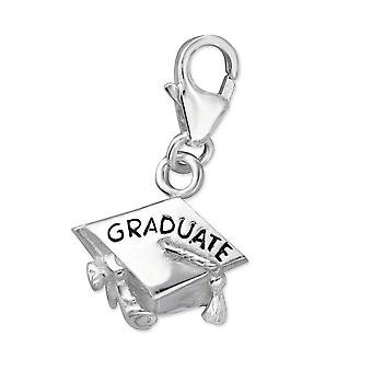 Graduate - 925 Sterling Silver Charms With Lobster - W7239x