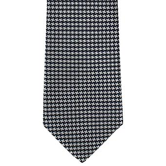 Michelsons of London Bold Dogtooth Silk Tie - Navy