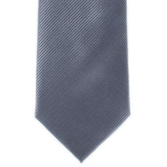 Michelsons London Plain Rib Polyester Tie - grå