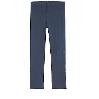 Lauren Vidal Navy Slim Fit Cropped Trousers