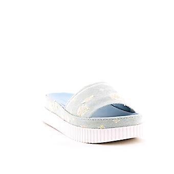 Kendall & Kylie   Isla 7 Dżinsowe sandały platformy   Jasnoniebieska tkanina   6
