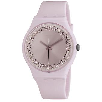 Swatch Women's Sparkles Pink dial watch - SUOP110