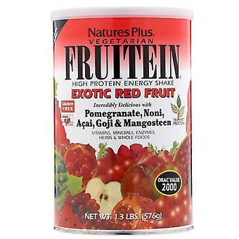 Fruitein-vysoká proteínová energia Shake-exotické červené ovocie (576 gramov)-príroda ' s plus