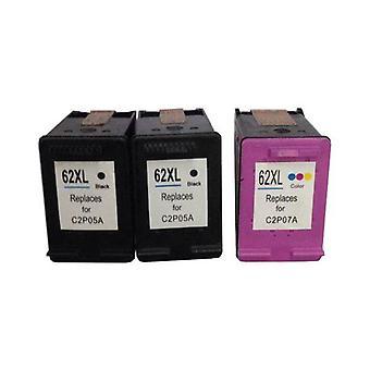 Refabriqué 2x HP62XL Noir et 1x HP62XL Couleur