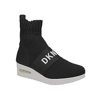 DKNY | Anna Slip-Ons Wedges Knit Sneakers | Black | 6.5