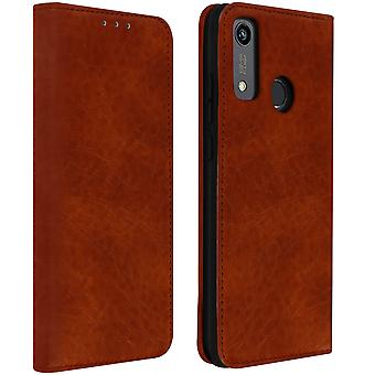 Protective Cover Huawei P Smart 2020 Card Holder Leather Effect Vintage Brown