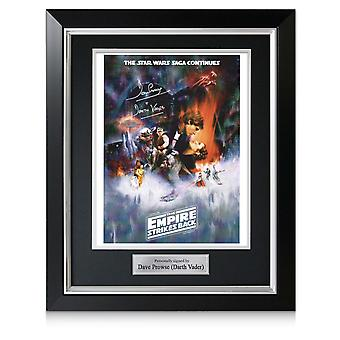 Darth Vader Signé Empire Strikes Back Poster. Cadre de luxe