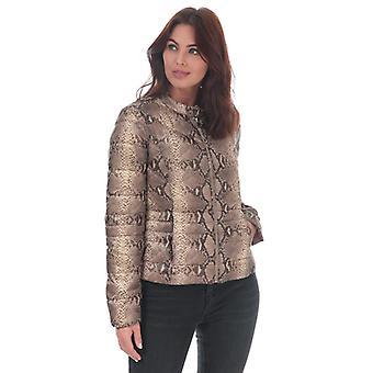 Chaqueta de impresión de serpiente Vero Moda Sorayasiv para mujer en marrón