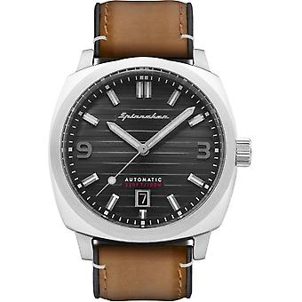 Spinnaker - Wristwatch - Men - Hull Riviera cuir - SP-5073-05 - Marron