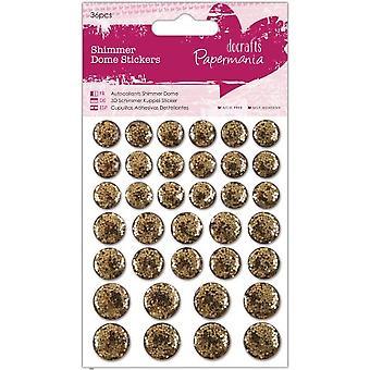Adesivos de cúpula Shimmer de Papermania (36pcs) - Ouro (PMA 805916)