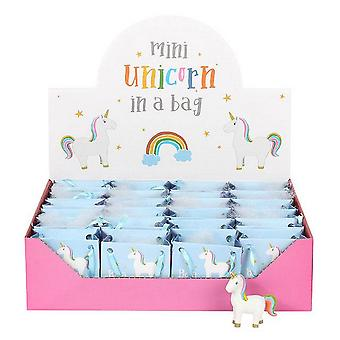 Something Different Standing Rainbow Unicorn In Mini Bags (Set Of 24)