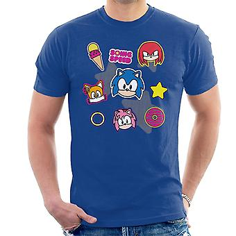 Sonic The Hedgehog Speed Cute Patches Miehet's T-paita