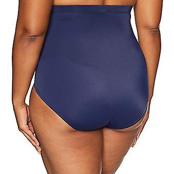 Brand - Coastal Blue Plus Size Bikini Bottom, Navy, L