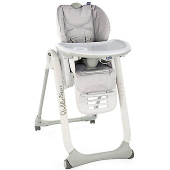 Chicco Polly 2 Start 4W Highchair Happy Silver
