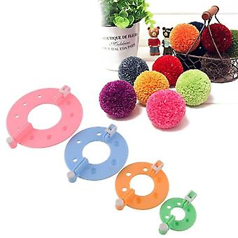 Pompom Maker - Fluff Ball Weaver Diy Craft Ull Strikking for Dekorative Huset