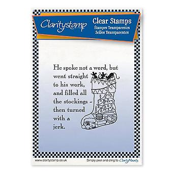 Claritystamp Twas the Night Bunting Stocking Clear Stamp